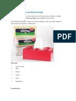 Caja de Pañuelos Con Forma De