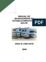 Manual de Bioseguridad DISA IV Lima Este