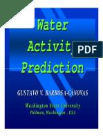 Water Activity Prediction