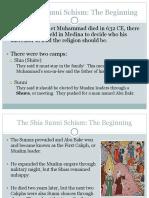 sunni shia schism