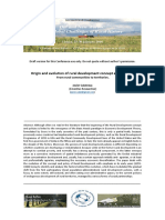 Origin and evolution of rural development concept and policies