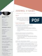 Joewel Saba Resume