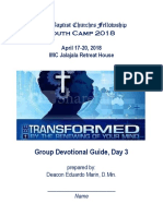 Youth Camp Devotion (Day 3) for Campers