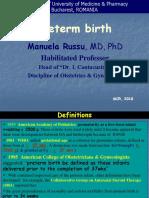 Lecture 12- Preterm birth.ppt