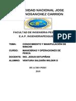 CONOCIMIENTO DE FUNCIONAMIENTO DE WINCHE EN UNA EMBARCACION
