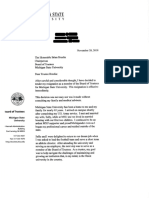 George Perles Letter