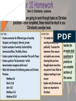 term 3 year 10 homework - christianity practices