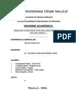 Analisis Del Centro de Salud Victor Larco