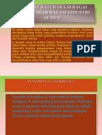 Manfaat Batubara Sebagai Bahan Bakar Dalam Industri Semen