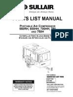Partes Compresor Sullair 550rh, 600hh, 700hh , 750h