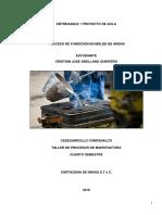 Informe Procesos de Manofactura (Entregable 1) Cristian Arellano