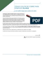Terminales Código Color de Cobre Para Crimpado CL1_0-D