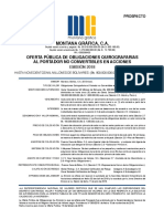 Prospecto Emisión Obligaciones Quirografarias Montana Gráfica OQ2018 (p)