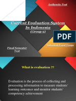 Current Evaluation System in Indonesia