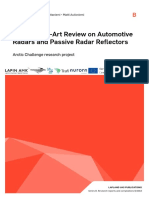 LapinAMK State-Of-The-Art Review on Automotive Radars and Passive Radar Reflectors