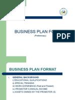 Business Plan Format