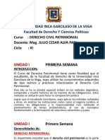 Clase Derecho Civil Patrimonial
