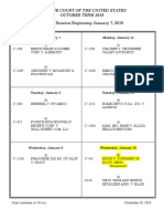 Supreme Court Argument Calendar January 2019