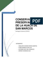Conservacionn y Preservacion de La Huaca San Marcos
