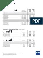Zeiss Winter Weeks Price List