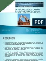 ACOPLAMIENTO CARGADORA-CAMIÓN Y TIEMPOS DE ESPERA.pptx
