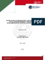 Estudio Prefactibilidad Implementacion Taller Anexos