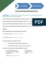 flipped classroom activity design worksheet