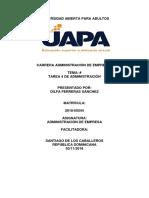 Tarea 4 de Administración Dilfa Ferreras