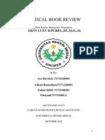 Critical book Manajemen Perpajakan