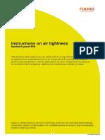 Ruukki Sandwich Panel SPA Instructions on Air Tightness