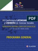 Programa General Conferencia CLACSO Medellin 2015