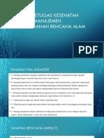 Peran Petugas Kesehatan Dalam Manajemen Penanganan Bencana Alam
