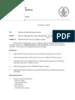 Jefferson County Board of Legislators Health & Human Services Committee Dec. 4, 2018 agenda