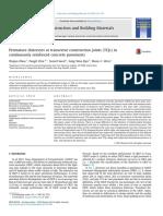 Zhou W. et al (2014) Premature distresses at transverse construction joints (TCJs) in continuously reinforced concrete pavements.pdf