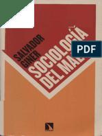Sociología del mal. Salvador Giner