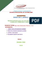 """""""Beneficios Sociales, CTS, Gratificaciones Laborales y Derechos Laborales"""""""