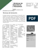 TÉCNICAS DE FORMACIÓN PEDAGÓGICAS.   Evidencia