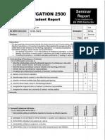 ed 2500 - student report