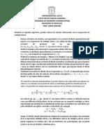 Algorítmo de Cálculo Para Evaporadores de Múltiple Efecto
