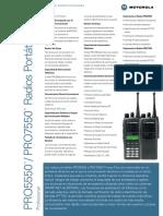 Radio Pro5550 Pro7550