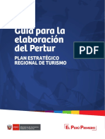 Guía Para La Elaboración Del Plan Estratégico Regional de Turismo - Pertur