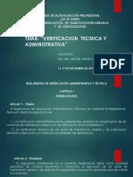 Verificacion Tecnica y Administrativa