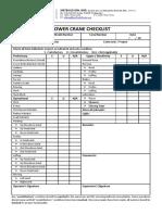Tower Crane Checklist