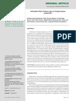 Antioxidant effect of Morus nigra on Chagas disease progression