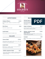 goldies menu
