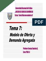 Tema 7 Modelo de Oferta y Demanda Agregada