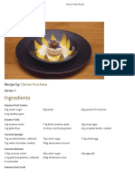 Passion Flower Recipe