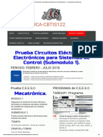 Prueba Circuitos Eléctricos y Electrónicos Para Sistemas de Control (Submodulo 1)