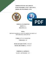Informe Ensayo Marshall Pavimentos
