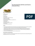 Pan Roasted Fish Publix Recipe